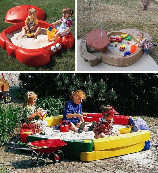Готовые пластиковые песочницы для детей