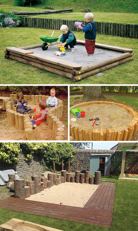 Деревянные песочницы для дачи