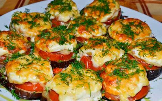 Запеченный баклажан с сыром в духовке рецепт с пошагово