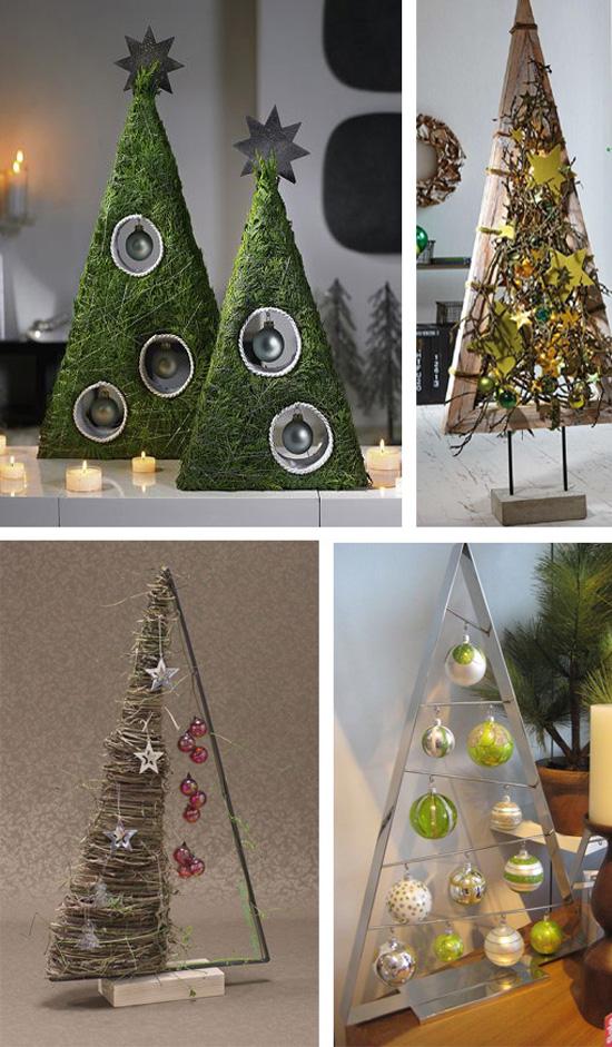 Красивые украшения в виде елок для новогоднего декора