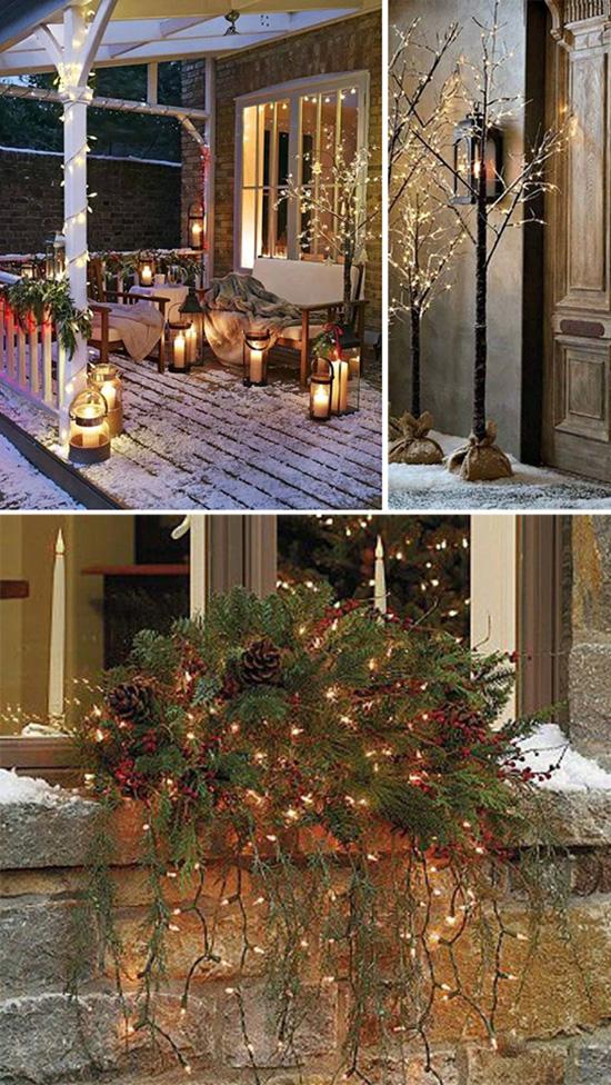 Рождественский декор входной зоны дома