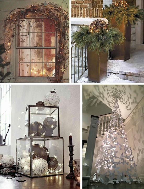 Светящиеся рождественские элементы декора