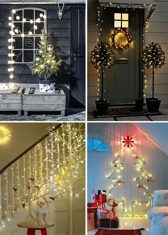 Оригинальные световые акценты в рождественском стиле