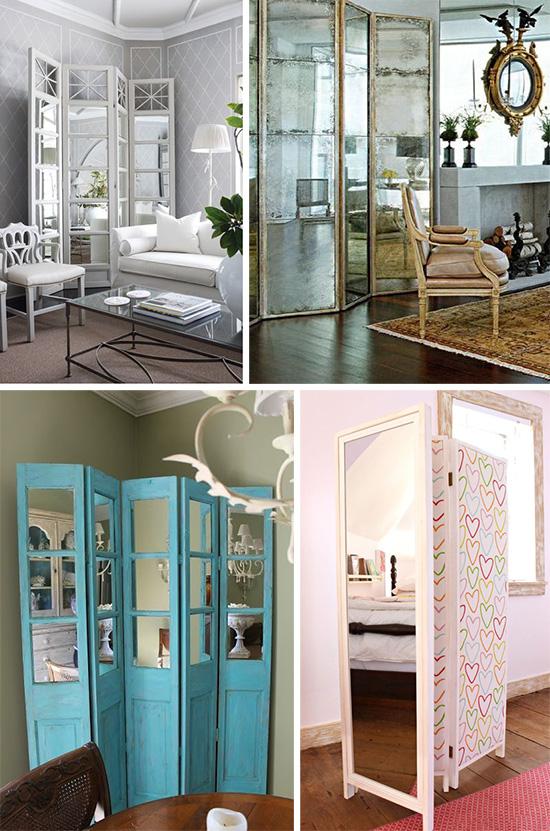 Зеркальные ширмы: декоративные и практичные