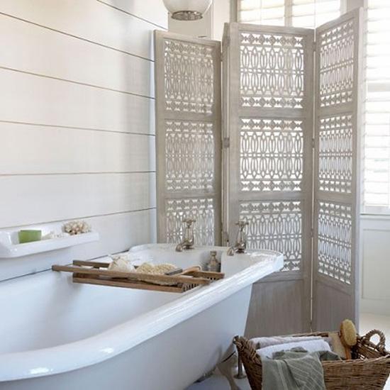 Ажурная перегородка в ванной комнате
