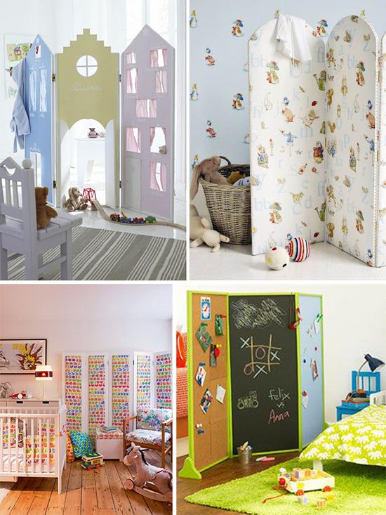 Игровые и функциональные ширмы перегородки для детской комнаты