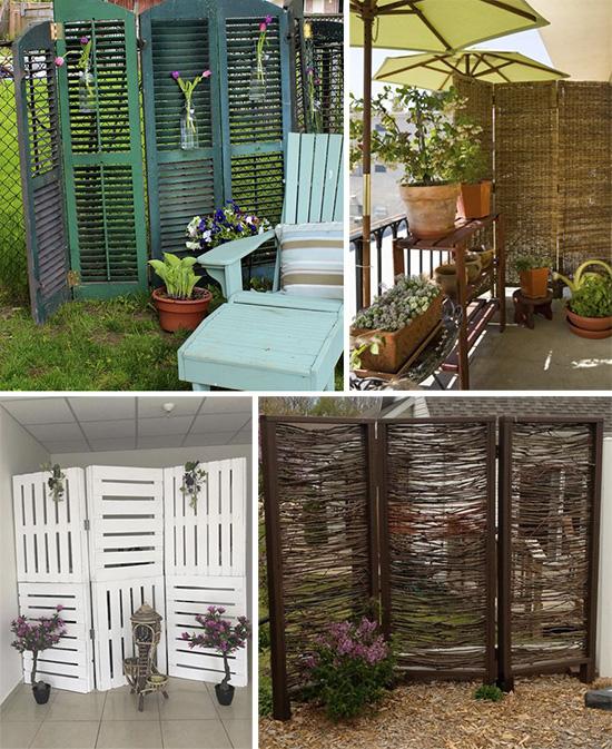 Идеи створчатых перегородок для сада и дачи