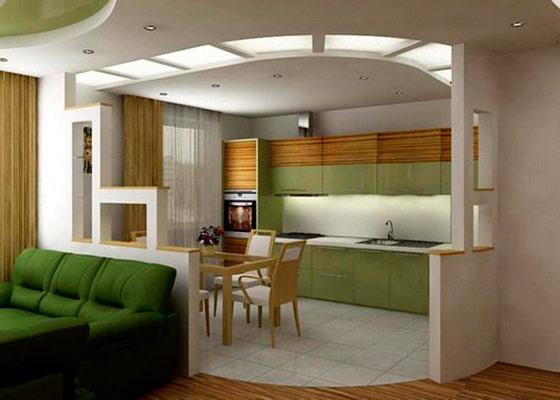 Дизайн совмещенной гостиной с кухней фото 2015 современные идеи