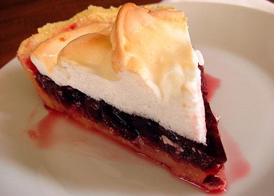 песочный пирог с безе рецепт с фото